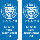 Lot de 2 stickers Jaguar n° au choix