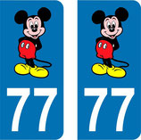 Lot de 2 stickers Mickey n° 77