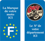 Lot de 2 stickers Café Racer Moto