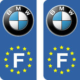 Lot de 2 stickers BMW nouveau logo Europe