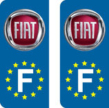 Lot de 2 stickers Fiat Europe