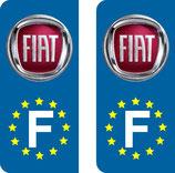 Lot de 2 stickers Fiat Europe