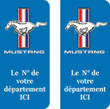 Lot de 2 stickers Ford Mustang N° au choix ,,