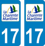 Lot de 2 stickers Logo Charente Maritime n° 17