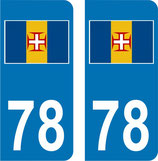 Lot de 2 stickers Drapeau de Madére N° 78 et 2 stickers Madére n° 93  2 stickers Portugal n°33 et 2 stickers Madére N° 33