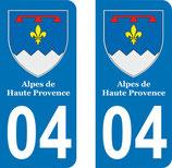 Lot de 2 Blasons Alpes de Haute Provence 04