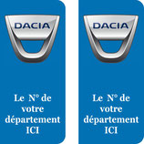Lot de 2 stickers Dacia n° au choix