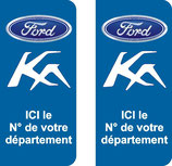 Lot de 2 stickers Ford Ka n° au choix