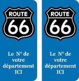 Logo Route 66 couleur noir N° au choix