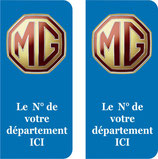 Lot de 2 stickers MG n° au choix