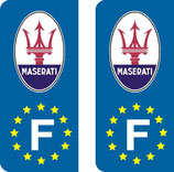 Lot de 2 stickers Maserati Europe