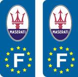Lot de 2 stickers Maserati Europe