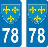 Lot de 2 Blasons Ile de France 78 Yvelines