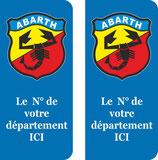 Lot de 2 adhésifs ancien logo Abarth  N°au choix
