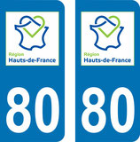 Lot de 2 stickers Haut de France 80 Somme