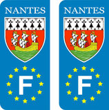 Lot de 2 stickers ville de Nantes Europe