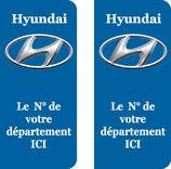 Lot de 2 stickers Hyundai n° au choix
