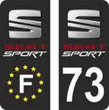 Lot de 4 stickers Seat  Sport Europe et Seat Sport 73