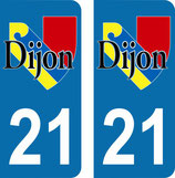 Lot de 2 stickers Logo ville de Dijon