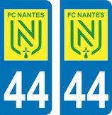 Lot de 2 sticker nouveau logo FC Nantes n° 44