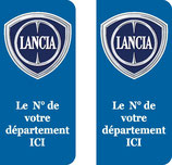 Lot de 2 stickers Lancia N° au choix