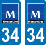Lot de 2 stickers ville de Montpellier