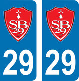 Lot de 2 stickers perso Stade Brestois  n° 29