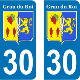 Lot de 2 stickers ville du Grau du Roi N° 30
