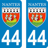 Lot de 2 stickers de la ville de Nantes