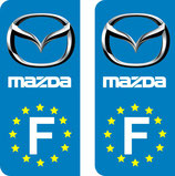 Lot de 2 stickers Mazda Europe