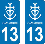 Lot de 2 stickers Camargue 13