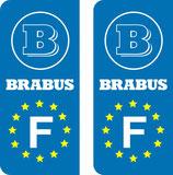 Lot de 2 adhésifs Brabus Europe