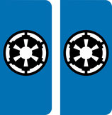 Lot de 2 stickers perso star Wars