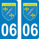 Lot de 2 stickers ville de Cannes