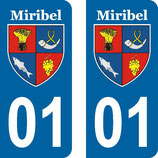 Lot de 2 paires stickers Miribel