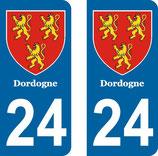 Lot de 2 Blasons Aquitaine 24 Dordogne