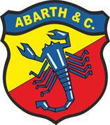 1 sticker ABARTH ancien logo redessiné 100 mm de haut ( années 1951 )