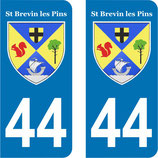 Lot de 2 stickers St Brevin les Pins n° 44