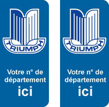 Lot de 2 stickers Triumph n° au choix