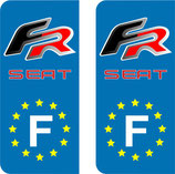 Lot de 2 stickers Seat FR  Europe