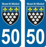 Lot de 2 stickers Mont St Michel N°50