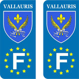 Lot de 2 stickers ville de Vallauris Europe