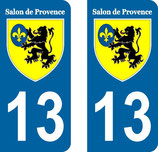 Lot de 2 stickers ville de Salon de provence