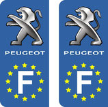 Lot de 2 stickers Peugeot Europe