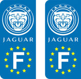 Lot de 2 stickers Jaguar Europe nouveau logo