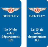 Lot de 2 stickers Bentley N° au choix