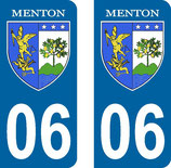 Lot de 2 stickers ville de Menton