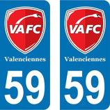 Lot de 2 stickers Foot VAFC Valenciennes N° 59