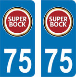 Lot de 2 stickers super bock n° 75