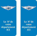 Lot de 2 stickers logo Morgan N° au choix